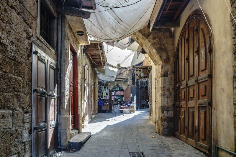 Вид на улицу в Сидоне Сайда Ливан стоковые фотографии rf