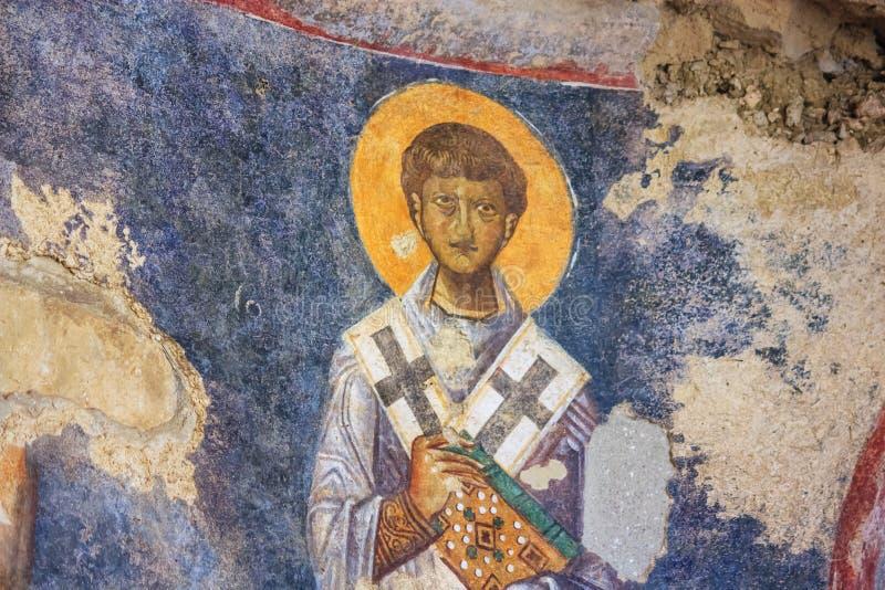 вид на фрески в церкви Святого Николая в городе Демре стоковое фото rf