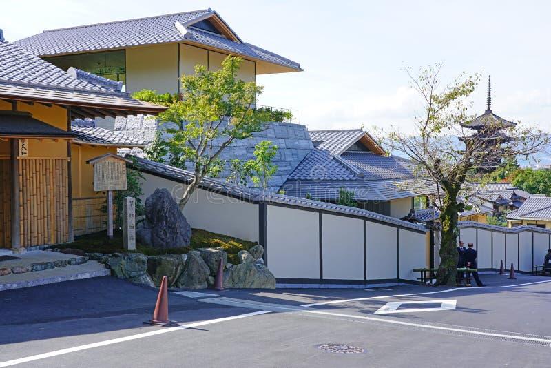 Вид отеля Park Hyatt Киотский в Киото, Япония стоковое изображение rf
