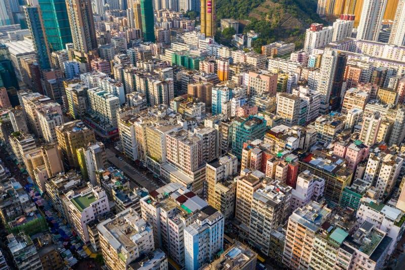 Вид сверху на город Гонконг стоковое изображение rf