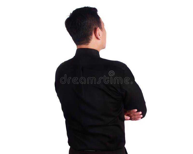 Вид сзади молодого бизнесмена стоковая фотография