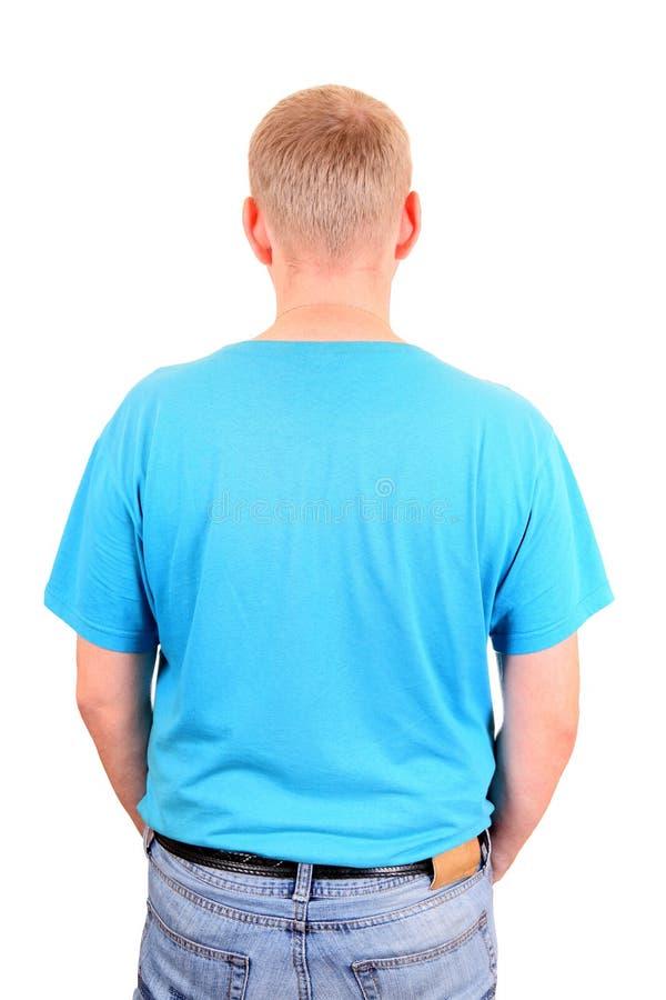 вид сзади человека стоковое изображение rf