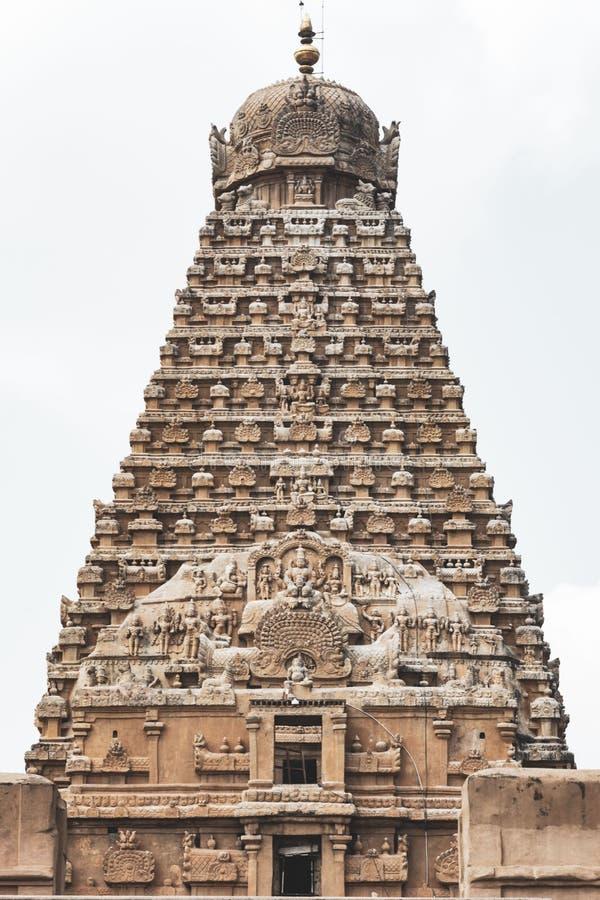 Вид спереди виска Thanjavur большого на солнечный день стоковые фото