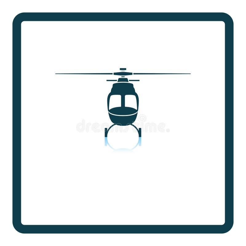 Вид спереди значка вертолета иллюстрация штока