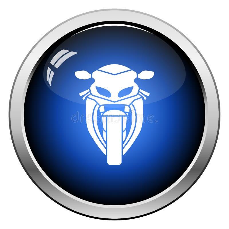 Вид спереди значка мотоцикла иллюстрация штока