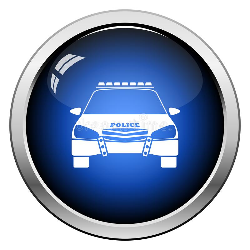 Вид спереди значка полиции иллюстрация штока