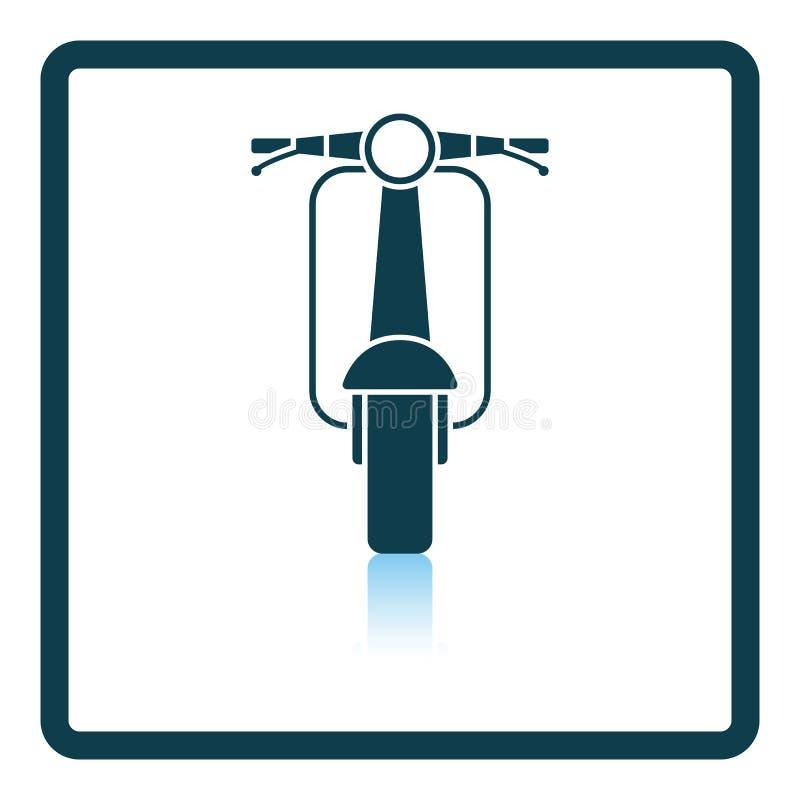 Вид спереди значка скутера иллюстрация штока