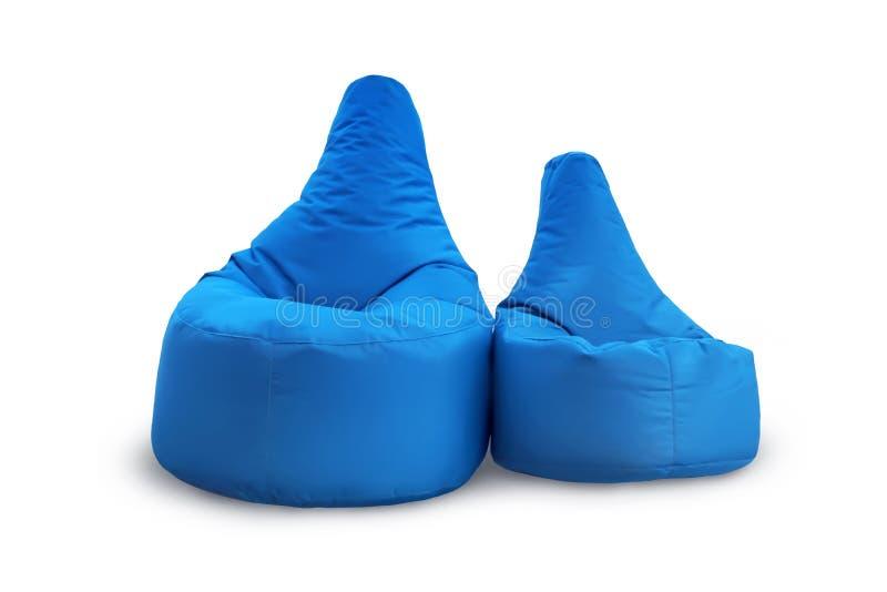 Вид спереди 2 мягких голубых погремушк изолированных на белой предпосылке Объекты для дизайна стоковое фото rf