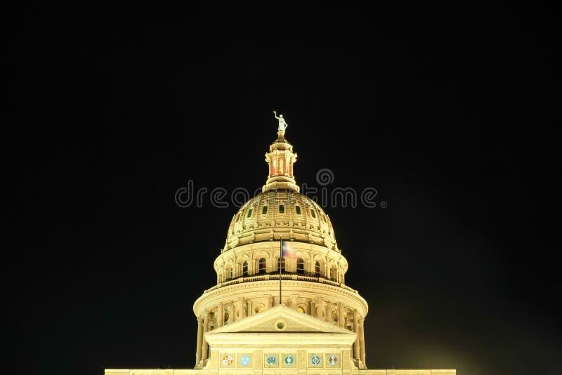 Вид спереди прописного здания Остина, Tx стоковая фотография