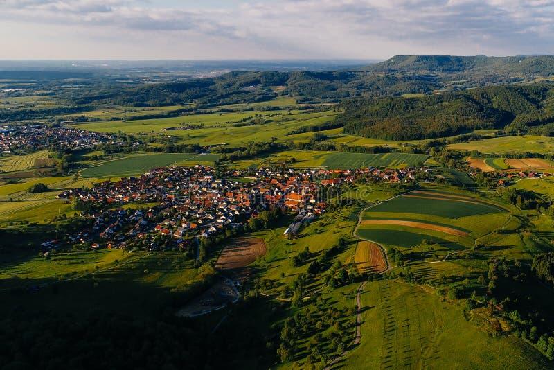 Вид с воздуха Баварии, Германии стоковые изображения rf