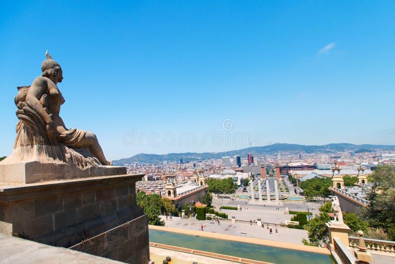 Вид с воздуха Барселона стоковое изображение rf