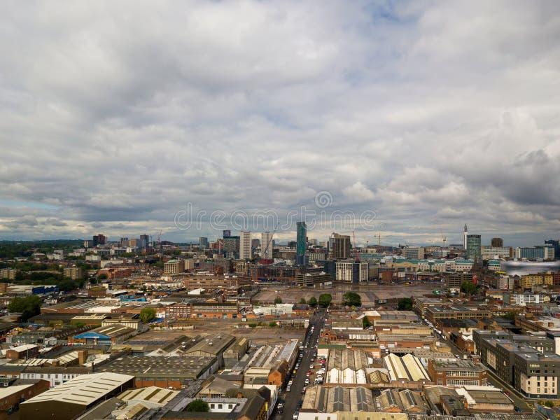 Вид с воздуха Бирмингема стоковая фотография