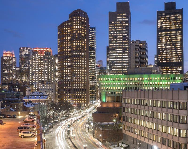 Вид с воздуха Бостон в Массачусетс, США стоковое фото