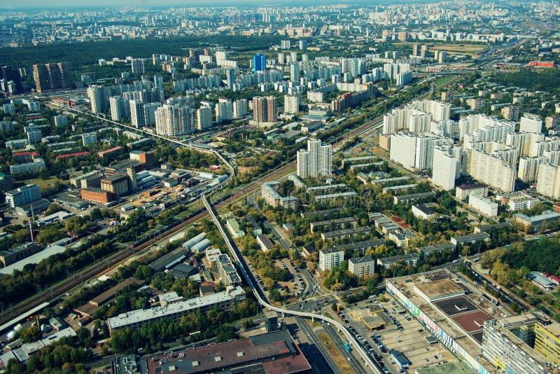 Вид с воздуха города Москвы Вид с воздуха города Москвы стоковое изображение rf