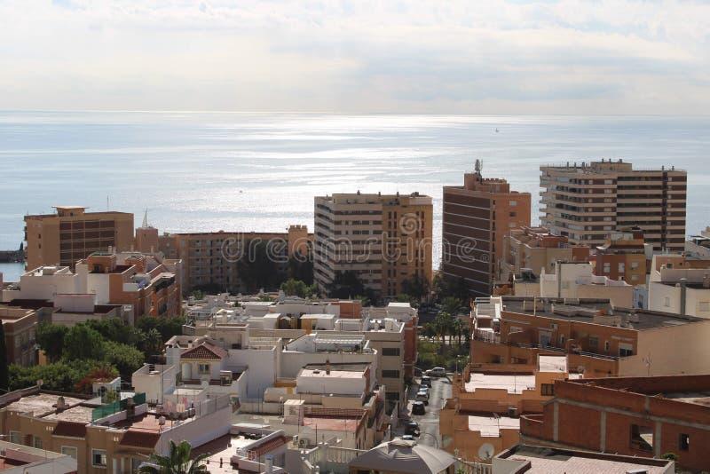 Вид с воздуха города стоковое изображение rf