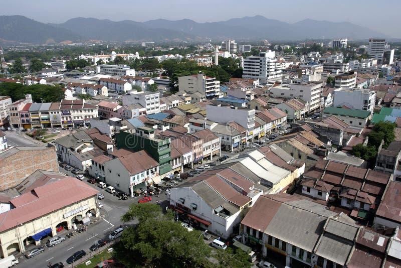 Вид с воздуха городка Ipoh старого стоковые фото