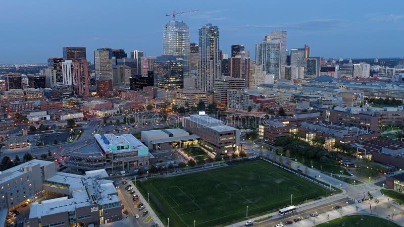 Вид с воздуха Денвера Колорадо стоковое фото