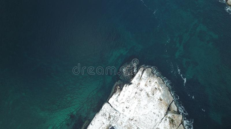 Вид с воздуха деревни Hamnoy, острова Lofoten, Норвегии в сезоне зимы стоковое фото