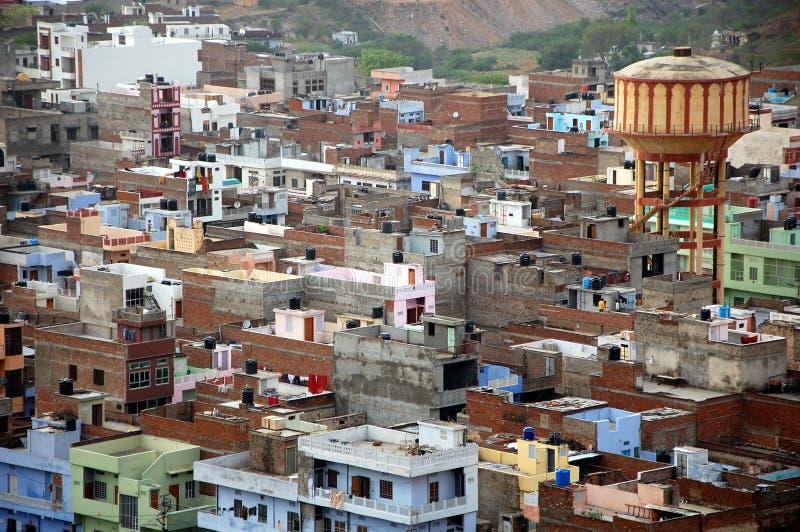Вид с воздуха Джайпура, Индии стоковые фотографии rf