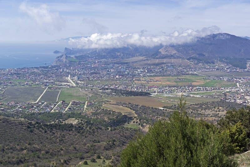 Вид с воздуха долины взморья Крым стоковые изображения rf