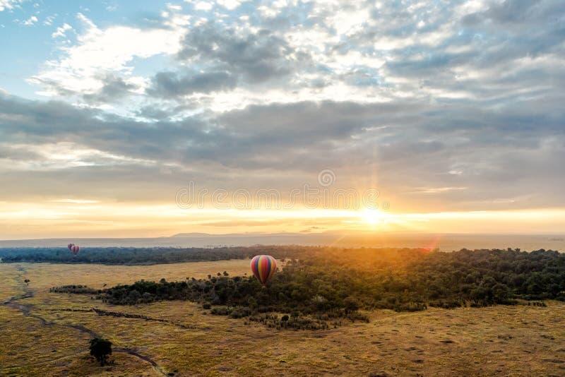 Вид с воздуха запаса Кении Mara Masai стоковые фото