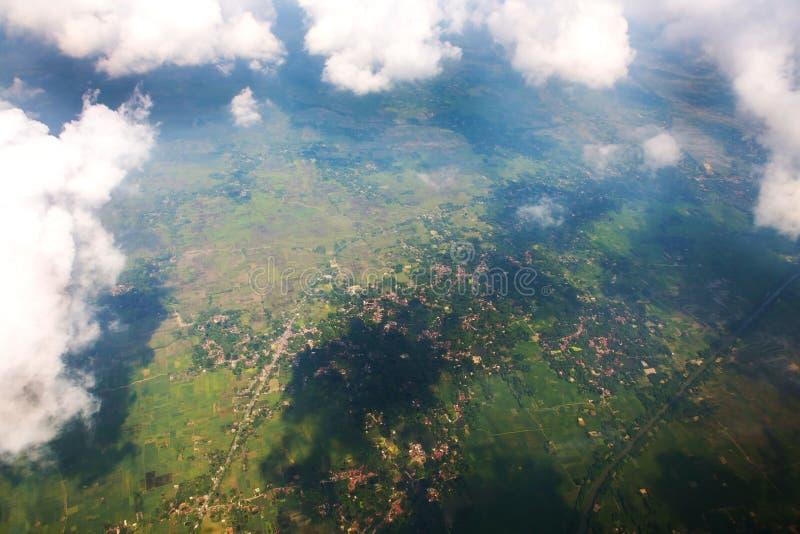 Вид с воздуха земли от большой возвышенности стоковое изображение