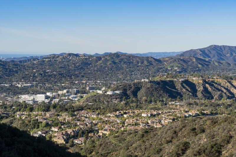 Вид с воздуха зоны гор и Altadena стоковые фотографии rf