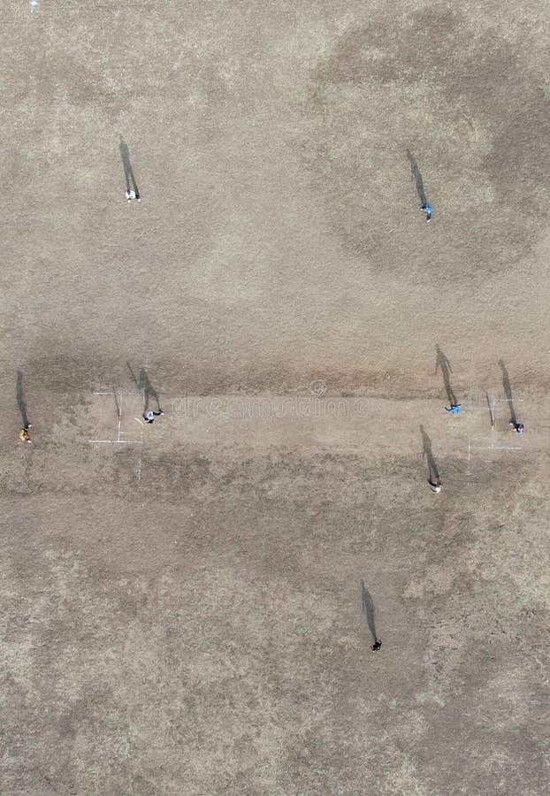 Вид с воздуха игры сверчка стоковое фото rf