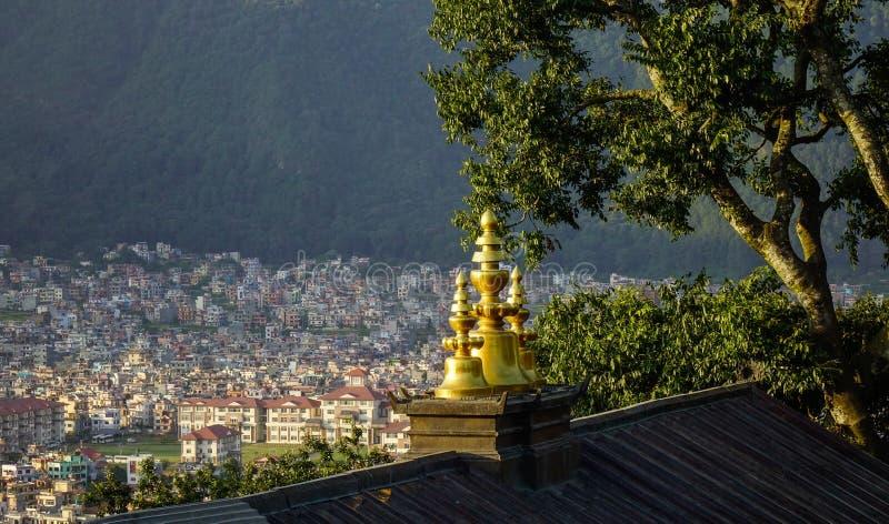 Вид с воздуха Катманду, Непала стоковое изображение rf