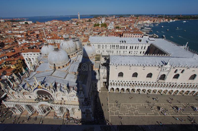 Вид с воздуха квадрата ` s StMark в Венеции стоковая фотография rf