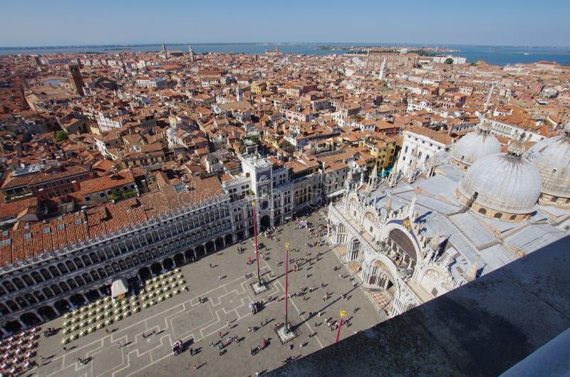 Вид с воздуха квадрата ` s StMark в Венеции стоковые фотографии rf
