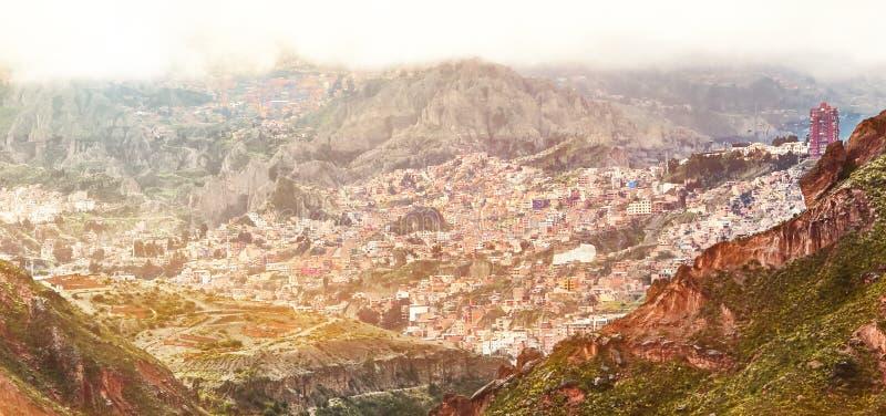 Вид с воздуха Ла Paz, Боливии стоковое фото