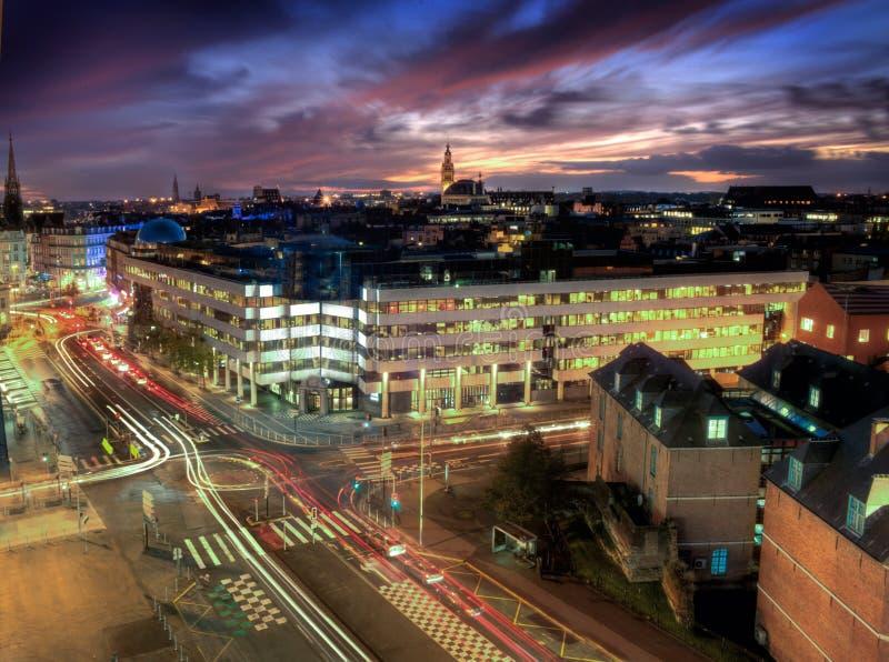 Вид с воздуха Лиля, Франции стоковая фотография rf