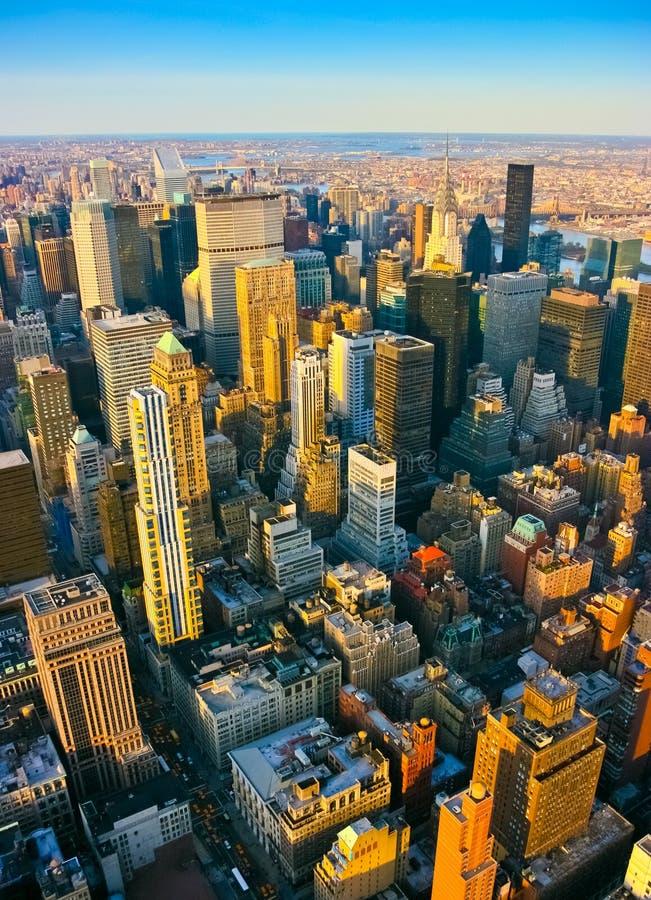 Вид с воздуха над центром города и Ист-Сайд стоковое изображение