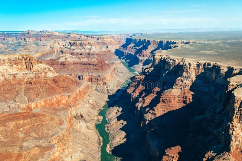 Вид с воздуха национального парка гранд-каньона, Аризоны стоковые фото