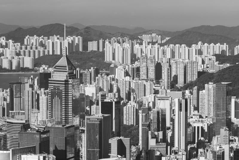 Вид с воздуха на город Гонконг стоковые изображения rf