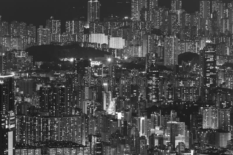 Вид с воздуха на город Гонконг стоковая фотография