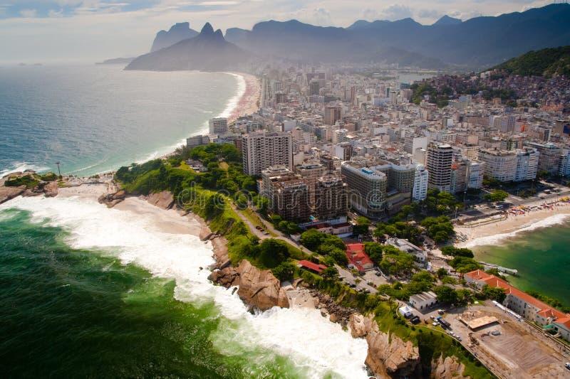 Вид с воздуха на Рио Де Жанеиро стоковая фотография rf