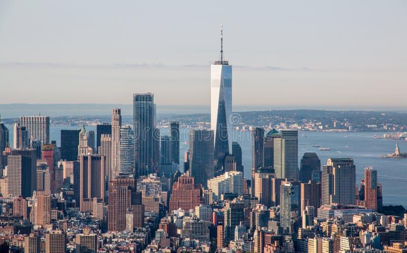Вид с воздуха Нью-Йорка стоковое фото