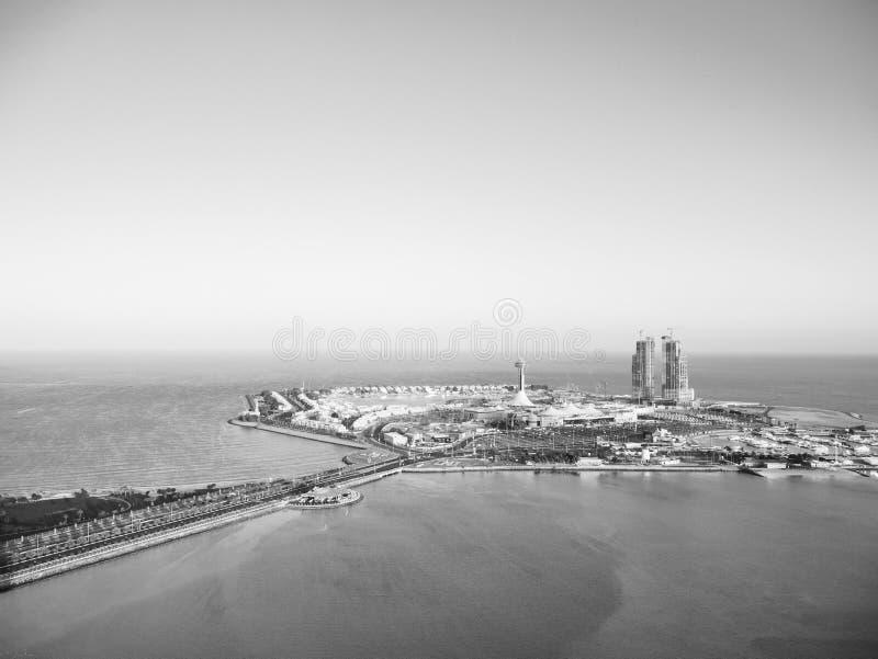 Вид с воздуха острова Марины Абу-Даби стоковая фотография rf