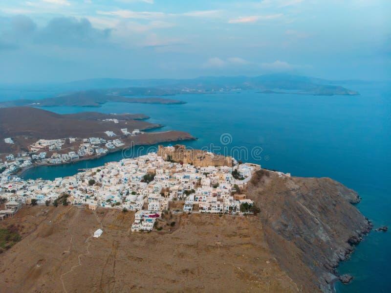 Вид с воздуха острова Astypalaia стоковое фото rf
