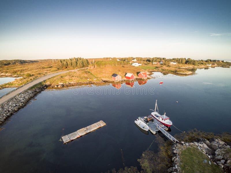 Вид с воздуха от трутня в Норвегии стоковое изображение rf