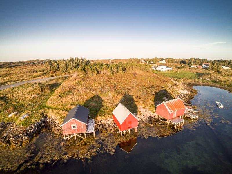 Вид с воздуха от трутня в Норвегии стоковая фотография rf