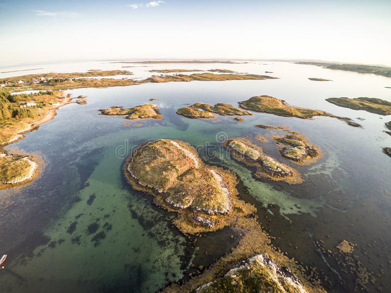 Вид с воздуха от трутня в Норвегии стоковое фото rf