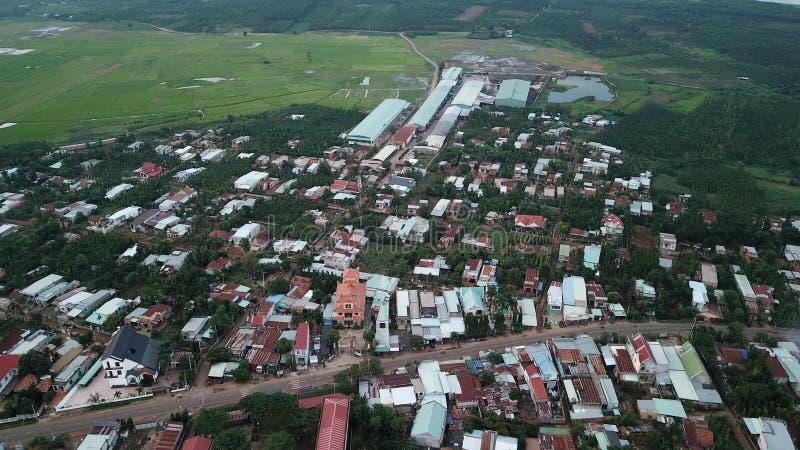 Вид с воздуха пагоды Khanh Tan стоковое изображение rf