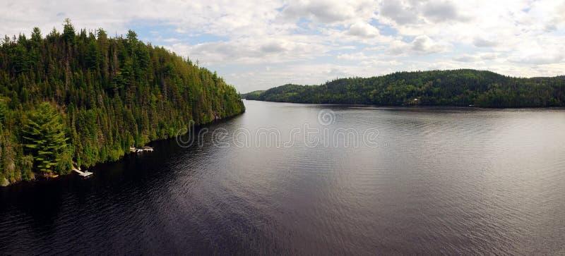 Вид с воздуха панорамы большого реки стоковая фотография rf