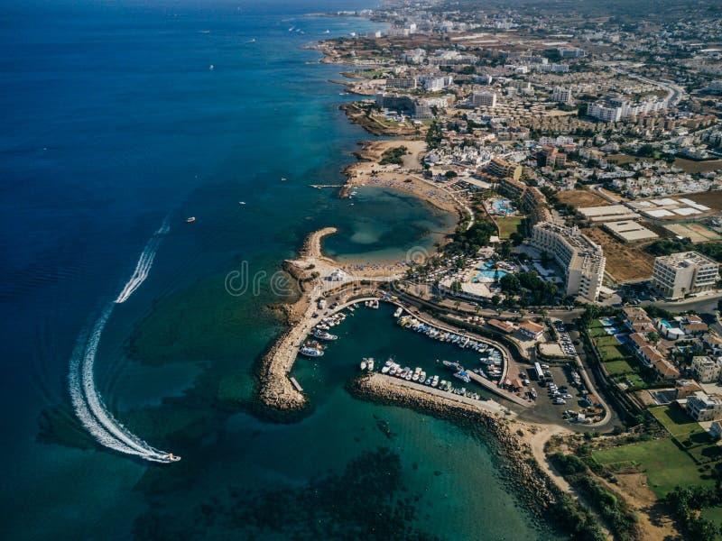 Вид с воздуха панорамы Кипра стоковая фотография rf