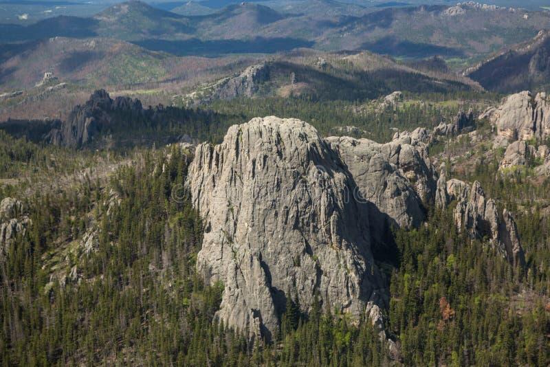 Вид с воздуха парка штата Custer, SD стоковое изображение