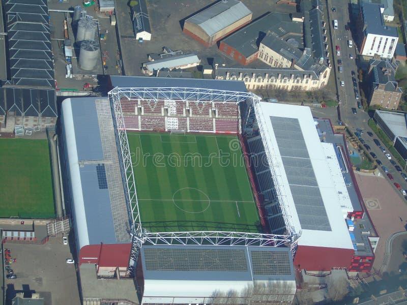 Вид с воздуха парка Tynecastle стоковые фото