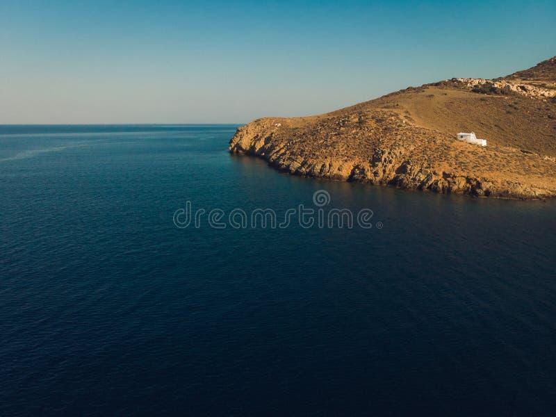 Вид с воздуха пляжа Astypalaia Греции Константина Святого стоковая фотография rf